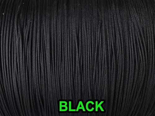 Black 1.8 mm SAYAYA 109 Yards Braided Nylon Lift Shade Cord with 8 Pack Wood Cord Knobs