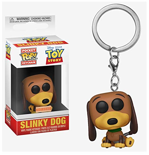 Funko Pocket Pop! Disney Pixar Toy Story Slinky Dog Vinyl Keyring Keychain Exclusive