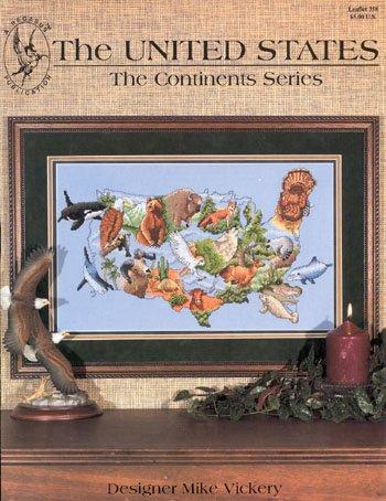 Pegasus Originals The United States Counted Cross Stitch Leaflet