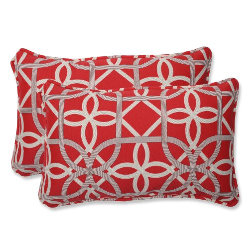 Pillow Perfect Outdoor Keene Cherry Rectangular Throw Pillow