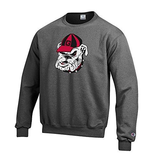 Icon Crew Sweatshirt - Elite Fan Shop Georgia Bulldogs Crewneck Sweatshirt Icon Charcoal - L - Charcoal Gray