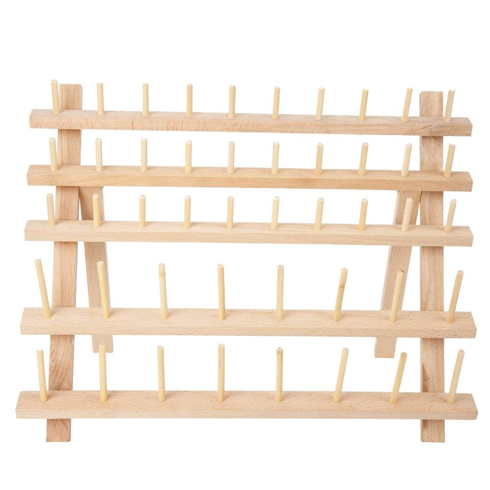 #1 40-Spool Sewing Thread Rack Embroidery Wooden Embroidery Thread Organizer Holder Wooden Rack Organizer for Sewing Thread Spools Quilting