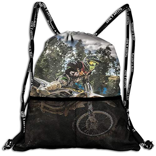 Men & Women Premium Polyester Drawstring Sack Motocross
