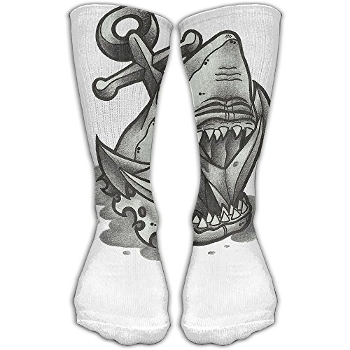 Big Mouse Anchor Shark Women & Men Socks Soccer Sport Tube Stockings Length 30cm]()