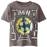 Teenage Mutant Ninja Turtles Little Boys' Short Sleeve T-Shirt Shirt, Grey, 4