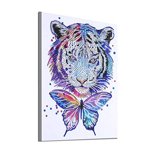 (5D Full Diamond Painting DIY Tiger Embroidery DIY Handmade Cross Stitch Kit Rhinestone Mosaic Craft Room Decor)