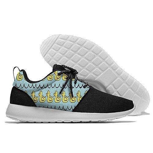 Schattige Eend Vrije Tijd Sportschoenen Loopschoenen Atletische Sneakers Zwart