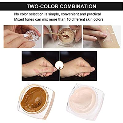Tattoo Concealer Set, Professional Waterproof Makeup Concealer Cream for Cover Up Covers Vitiligo, Birthmarks, Scar, Tattoos and other Skin Dark Spots