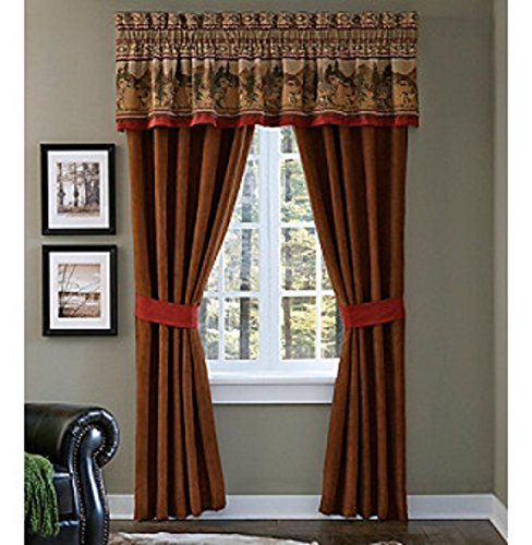Estate Croscill Pole Top Drapery Oakwood   Tailored Valance Brand Nwt