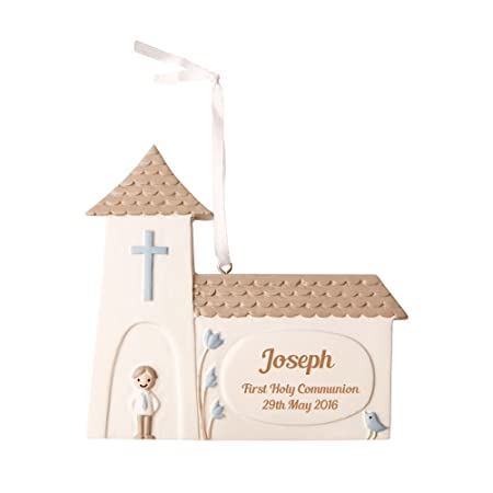 Personalised First Holy Communion Gift Idea, Boys Communion Church Keepsake, Church Decoration: Amazon.co.uk: Kitchen & Home