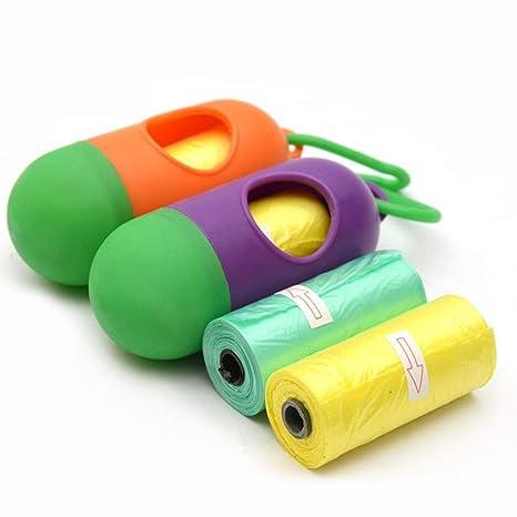 qganylO Basics – Bolsas de residuos para Mascotas, Bolsa de pañales portátil para Perros y Gatos, Bolsa de Basura para Caca de Mascotas, Caja con ...