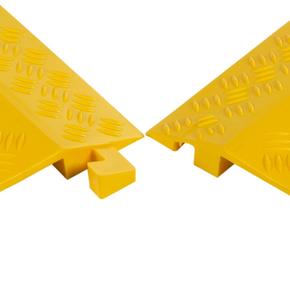 Rage Powersports 2-Pack Bundle High Traffic Pedestrian Light Equipment Drop-Over Cable Cover Ramps by Rage Powersports (Image #4)
