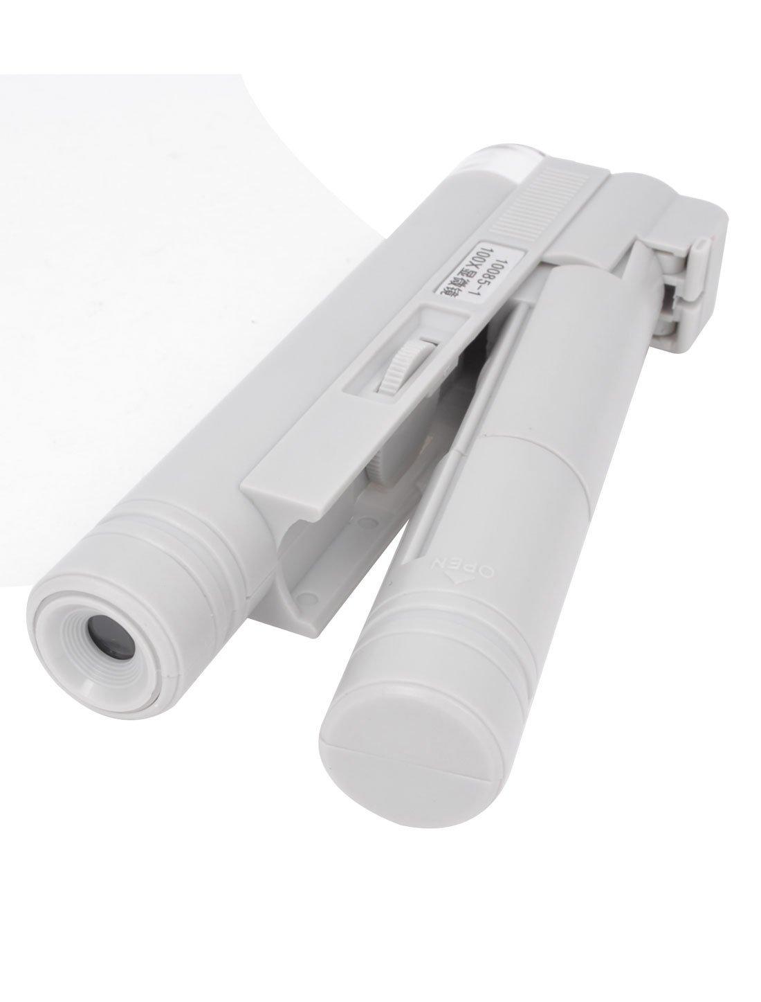 Amazon.com: eDealMax de Estar fuera de Blanca El enfoque de luz LED iluminado Microscopio 100X: Health & Personal Care