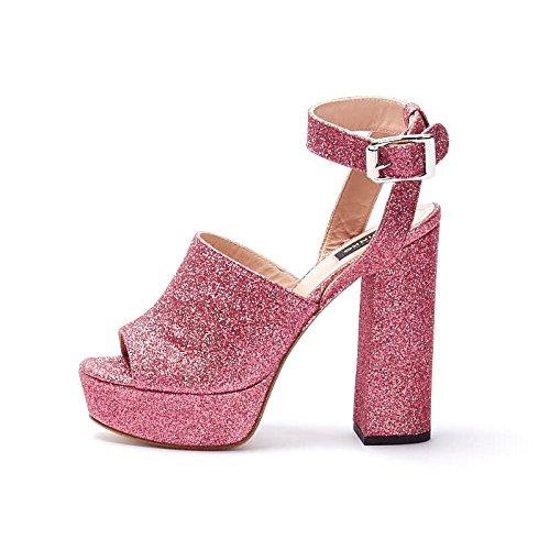 Sandali rosa con glitter rSoOrqjx