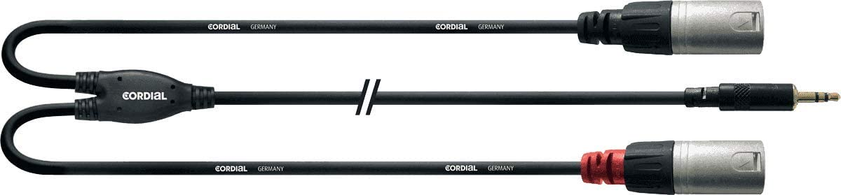 Cordial CFY 3 WMM - Cable XLR a mini jack (3.5 mm), negro: Amazon ...