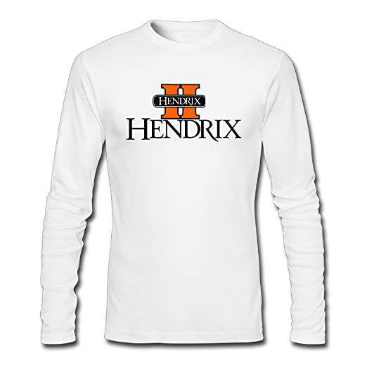 43c6cd61db6 Image Unavailable. Image not available for. Color  Fanlig Men s Hendrix  College Long Sleeve Crew Neck White T-shirts