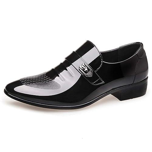 Mocasines para Hombres Zapatos de Boda Formales Vestido de Negocios Zapatos de Cuero Italiano Punta Estrecha Zapatos Oxford para Hombres: Amazon.es: Zapatos ...