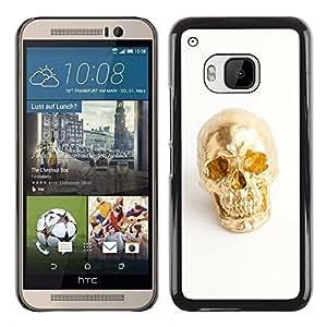 iKiki Tech / Estuche rígido - Nugget Scull White Minimalist Bling - HTC One M9