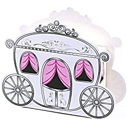Patty Both Cinderella Fairy Tale Carriage Wedding Gift Favor Candy Boxes(24/pcs)