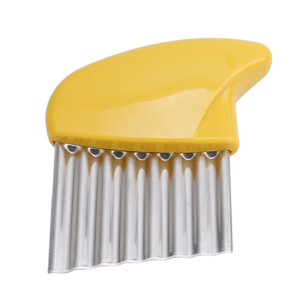 HK_SSK Wellenmesser-Kartoffelschneider, kreative Shredder-Kü chengerä te gelb size 1 (gelb)