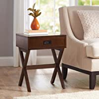 Better Homes and Gardens X-Leg Accent Table with Drawer (Walnut)