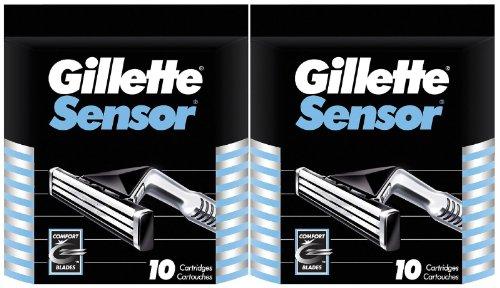 Gillette Sensor Refill Cartridges - 10 ct - 2 pk (Sensor Razor Blades)