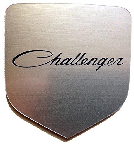 Dodge Challenger 2007+ Front Emblem Old Style Script Silver