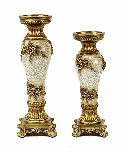 D'Lusso Andreas Design Home Decorative Hurricane Candlestick Set - 2 Piece