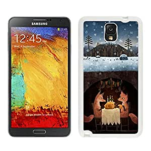 Customized Winter Foxes White Samsung Galaxy Note 3 Case 1 by icecream design