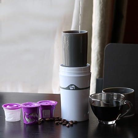 Walmeck- Manual Goteo Cafetera K Filtro de Taza Taza de Viaje Botella Cápsula Taza Filtro para café Té Cocina en casa Herramienta de café: Amazon.es: Hogar