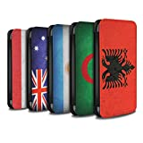 STUFF4 PU Leather Wallet Flip Case/Cover for Apple iPhone 8 Plus / Pack 53pcs Design / Flags Collection