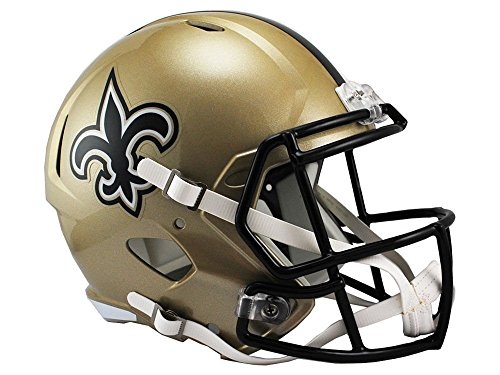 New Orleans Saints Replica Helmet - Riddell NFL New Orleans Saints Full Size Replica Speed Helmet, Medium, Gold