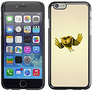 PC/Aluminum Funda Carcasa protectora para Apple Iphone 6 Plus 5.5 Minimalist Owl / JUSTGO PHONE PROTECTOR