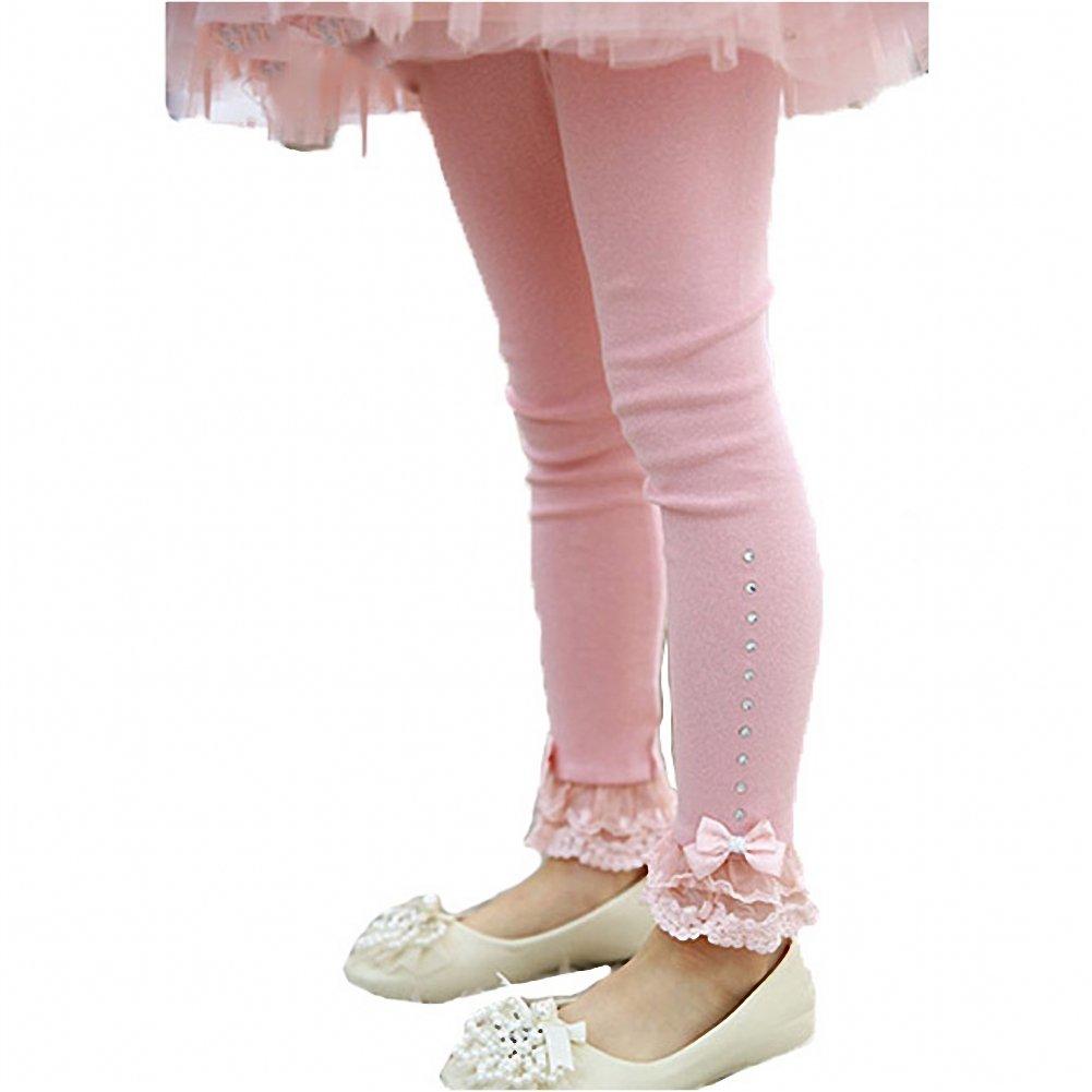 Romapig Winter Kids Girls Lace Flowers Legging Pants