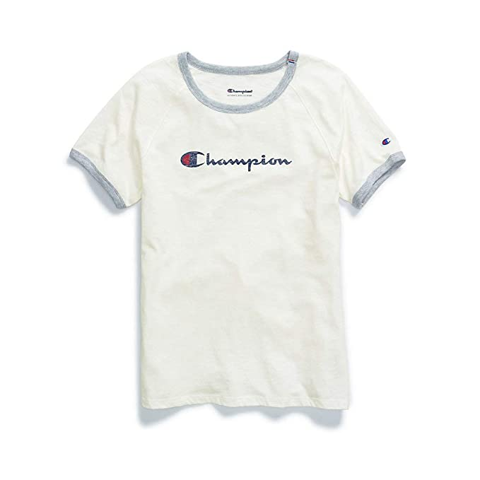3b3c5b26d7ccb6 Amazon.com  Champion Women s Heritage Ringer Tee  Clothing