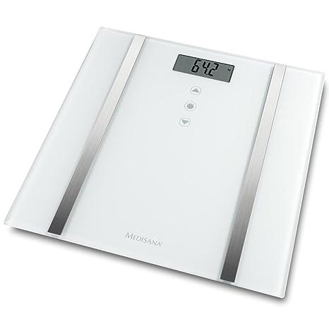 Medisana Báscula Analítica BS 483 180 Kg 30x30x2,1 cm Blanca Balanza Baño Peso