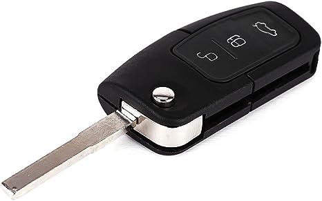 Mando a distancia con circuito electrónico y llave para Ford Focus, Mondeo, Cmax, Fiesta y Galaxy (caja de transferencia de repuesto, presenta 3 botones): Amazon.es: Juguetes y juegos