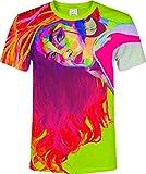 aofmoka Cute Bikini Girl Be Happy Golf Letter Print Clothes O Neck T-Shirt Adult Youth