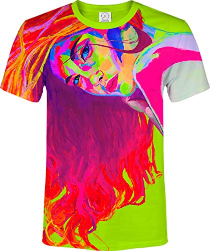 Love Sport Pin Up Girl Makeup Fase Glitter Neon Painting Event Fashion T-Shirt ()