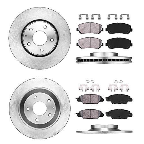 (Callahan CRK02427 FRONT 297mm + REAR 302.5mm OE 5 Lug [4] Rotors + [8] Ceramic Pads + Hardware [2016 2017 Mazda CX-5 ])
