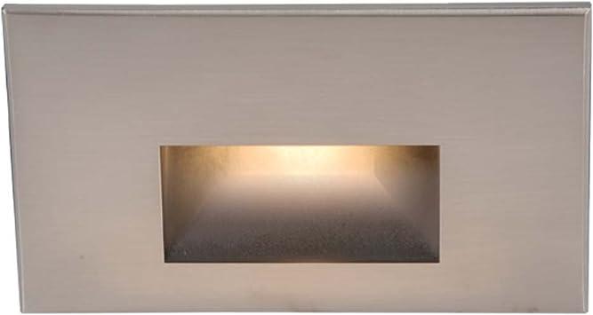 White Bulb 3.9 Watt LED Outdoor H WAC Lighting WL-LED100F-C-SS Stainless Steel
