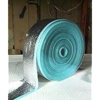 Nasa Tech Heavy Duty 6inch x 125ft Reflective Foam Core Pipe Air Duct Attic Basement Weatherization wrap kit (1/4 inch thick)