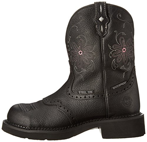 Justin Boots Women's Gypsy Collection 8'' Steel Toe,Black Pebbled Grain,8.5B by Justin Boots (Image #5)