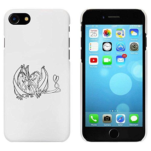 Blanc 'Dragons Amoureux' étui / housse pour iPhone 7 (MC00076056)