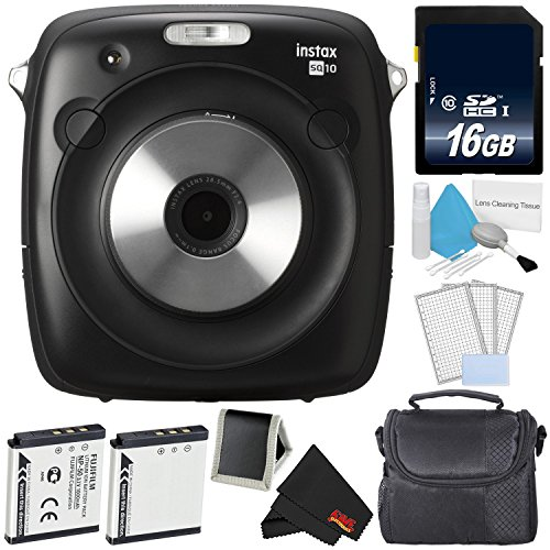 (Fujifilm Instax Square SQ10 Hybrid Instant Camera Accessory Bundle -)