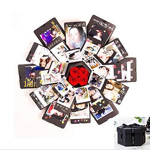 (Creative Explosion Box -Scrapbook DIY Photo Album Box for Birthday Anniversary Valentine Day Wedding(Black).)
