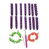 Alapaste 22 pcs Knitting Loom Round Circle Adjustable Hook Needle Sewing Hat Scarf DIY Tools Set