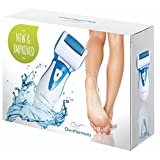 Rechargeable Electric Callus Remover and Shaver - Foot File CR900 by Own Harmony (Tested Most Powerful) Best Pedicure Tools with 2 Rollers - Professional Spa Electronic Micro Pedi Health Feet Care