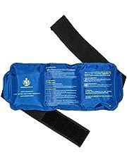 Hot & Cold Herbruikbare en flexibele Gel Ice Pack met riem voor pijnbestrijding, het beste als Heat Wrap of Cold Pack voor rug, taille, schouder, nek, enkel en heup