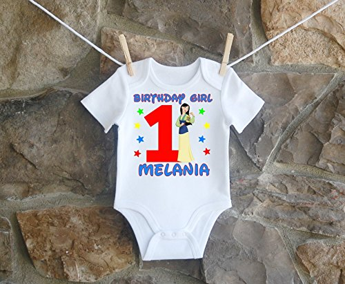 Mulan Birthday Shirt, Mulan Birthday Shirt For Girls, Personalized Girls Mulan Birthday Shirt, Customized Mulan Birthday Shirt by Lil Lady Treasures